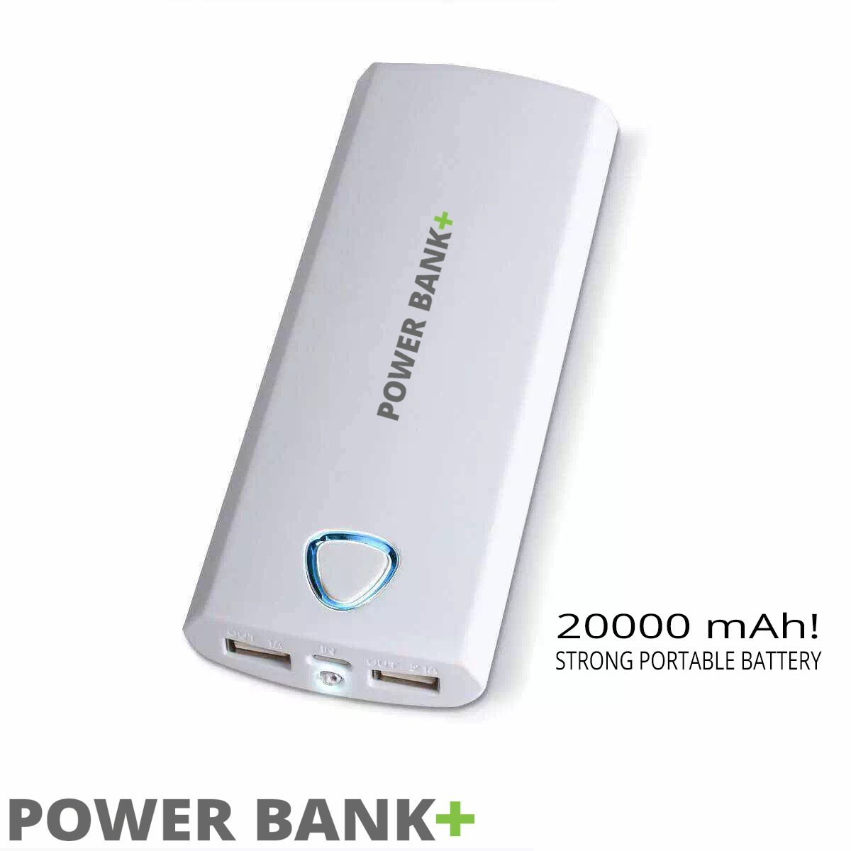 Powerbank 20000mah Portable Charger Vivi External Battery With 24 Fan 2 In 1 Home Shop Smart Phone Accessories 24a Dual Usb Outputs White